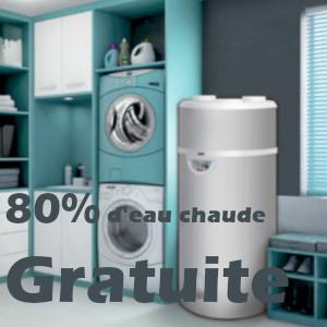 Chauffe-eaux Thermodynamique 80 % d'eau gratuite