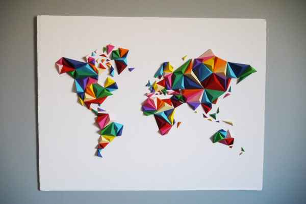 Kit papercraft mappemonde 3D Owarld